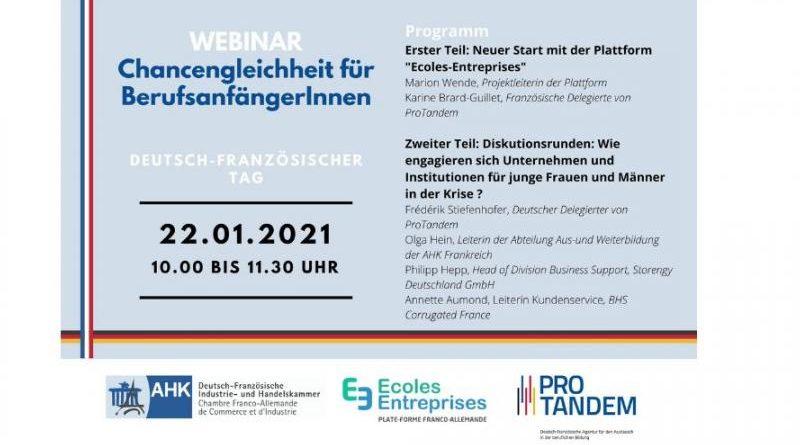 """Webinar: """"Chancengleichheit für BerufsanfängerInnen in der Krise"""""""
